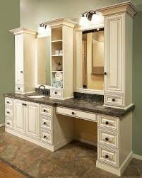 rome antique white bathroom vanity dark counter top tile