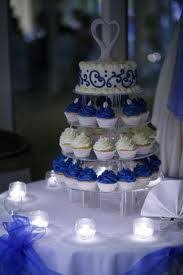 blue and white table ls royal blue wedding cupcakes wedding ideas for brides grooms