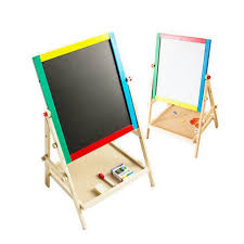 wooden easel and milly