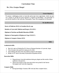 Pre Med Resume Sample fresher doctor resume 3 free word pdf documents download