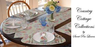 Table Runners For Round Tables Sweet Pea Linens Country Cottage Collection Of Placemats For