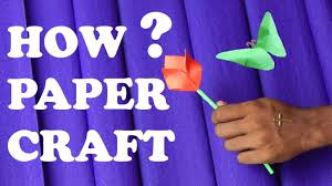 how to make a paper flower easy for kids youtube