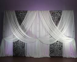 Curtains For Wedding Backdrop Floral Wedding Backdrops Elegant Wedding Backdrops Pipe And