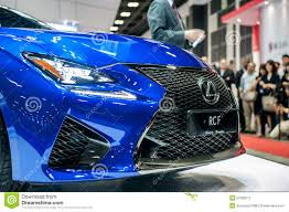 new lexus motors new lexus rc f at the singapore motorshow 2015 editorial photo