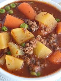slow cooker hearty ground beef stew together as family