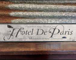French Decorations For Home Paris Wood Sign Etsy