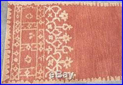 Pottery Barn Runner Rug Barn Terra Cotta Desa Bordered Wool 2 5x9 Runner Rug