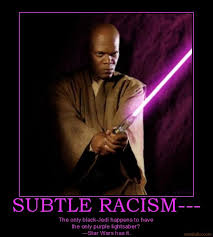 purple lightsaber that s racist know your meme