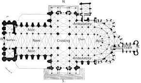 cathedral floor plan chartres cathedral section and chartres cathedral floor plan labeled