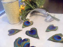 peacock wedding favors peacock feather heart wedding favors decor cherubinocrafts dma