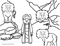 daniel and the lions den coloring page coloring home