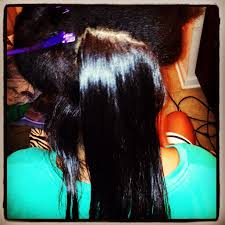 ththermal rods hairstyle natural hair flat ironed with the silk press kit silk press