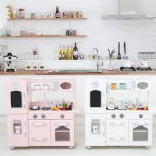 Furniture Kitchen Set Teamson Wooden Play Kitchen Set Reviews Wayfair