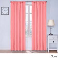Coral Blackout Curtains Rugs Curtains Charming Panel Coral Blackout Curtains For