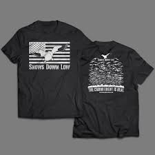 Flag T Shirt American Flag Snow Goose T Shirt Snows Down Low
