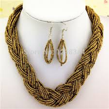 pattern crystal necklace images Free shipping nigerian wedding seed bead weaving necklace patterns jpg