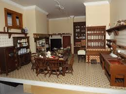 Manor House Kitchens by Late Victorian English Manor Dollhouse 1 12 Miniature From Scratch