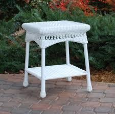 white wicker end table white wicker end table furniture ideas