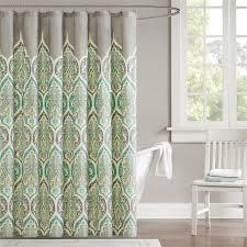Hunter Green Window Curtains by Madison Park Nisha Shower Curtain Ebay