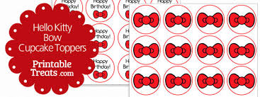 hello cupcake toppers hello bow cupcake toppers printable treats