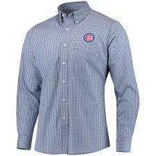 men u0027s chicago cubs antigua royal associate button down dress shirt