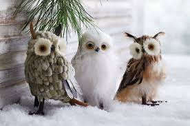 wise winter owls decor ornaments set of 3 nova68
