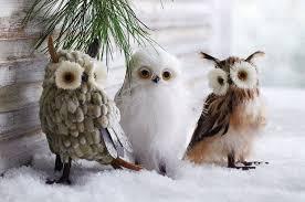owl ornaments wise winter owls decor ornaments set of 3 nova68