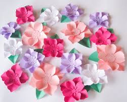 Wall Flower Decor by 16 Paper Flowers Small Paper Flowers Wedding Arch Large