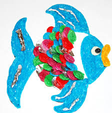 the rainbow fish wikki stix craft for kids wikki stix