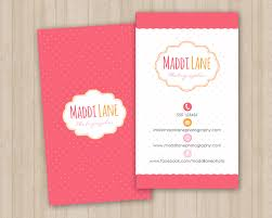 girly business card template vertical business cards card