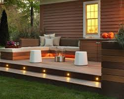 solar lights landscaping landscaping and outdoor building great small backyard deck