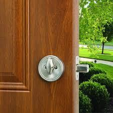 design house single cylinder satin nickel deadbolt 783589 the