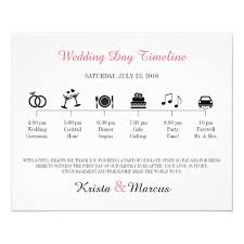 wedding day program icon wedding timeline program flyer zazzle