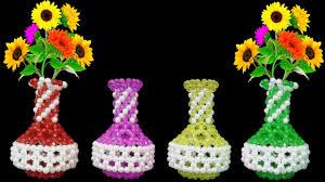 beaded flower vase diy beads flower pot flower vase