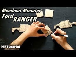 membuat miniatur mobil dari kardus cara membuat miniatur mobil ford ranger dari kardus ide kreatif