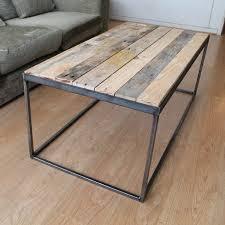 steel and timber u0027 coffee table steel coffee and studio