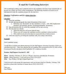 7 interview confirmation email sample write memorandum