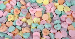 s candy hearts candy hearts stock photo image of yellow conversation
