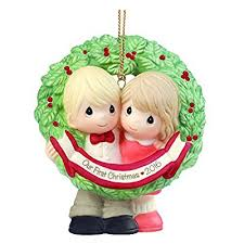 our year together ornaments for newly wed couples