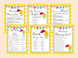 Large Baby Shower Games Whimsical Duck Baby Shower Games Magical Printable