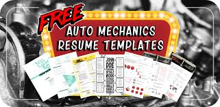 Auto Mechanic Resume Templates 6 Free Resume Templates For Auto Mechanics To Stand Out From The Crowd