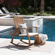 Rocking Chair Patio Furniture Patio Rocking Chairs U0026 Gliders You U0027ll Love Wayfair