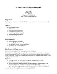 accounts payable resume exle accounts payable resume exle account payable resume display