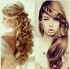 curly hairstyle for prom side swept cascading curls easy diy prom