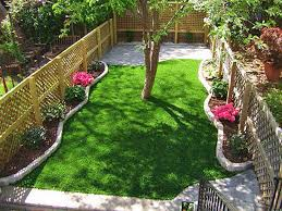 plastic grass mira monte california landscape rock backyard design