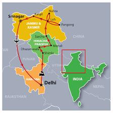 Himalayas On World Map by Himalayan Kingdoms Festival Tour Incredible India Tours