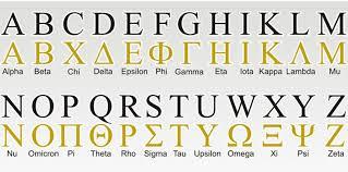 greek alphabet know it all