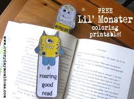 free lil u0027 monster bookmarks coloring printable monsters