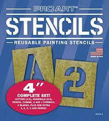 amazon com pro art 4 inch painting stencil set letters and