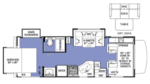 Rear Kitchen Rv Floor Plans by 2017 Forest River Sunseeker 2500ts Ford Class C Motorhome